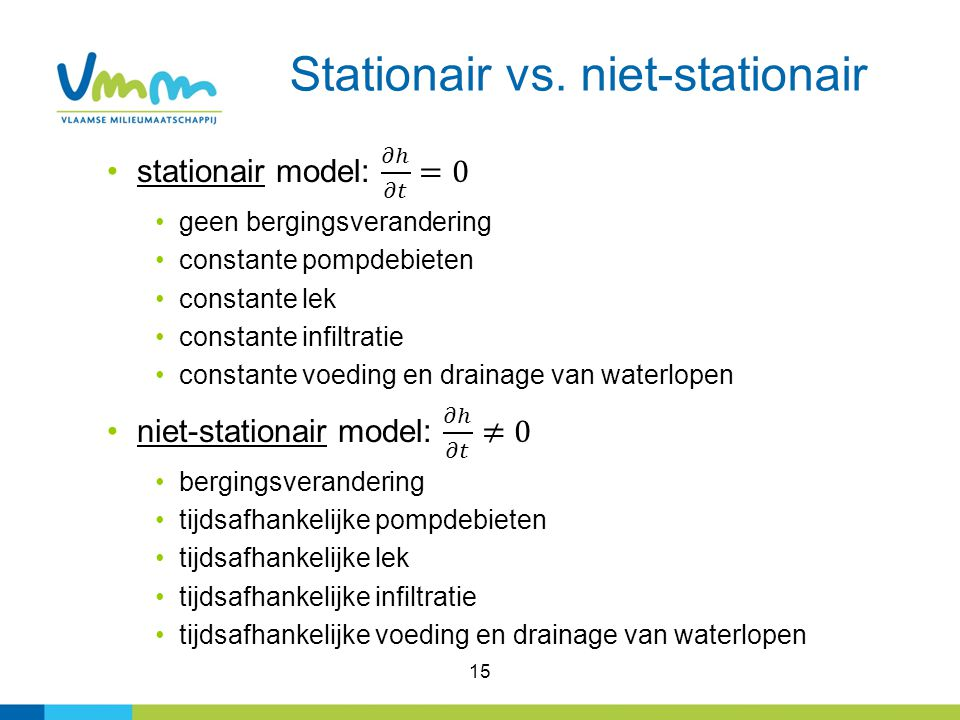 Stationair vs. niet-stationair