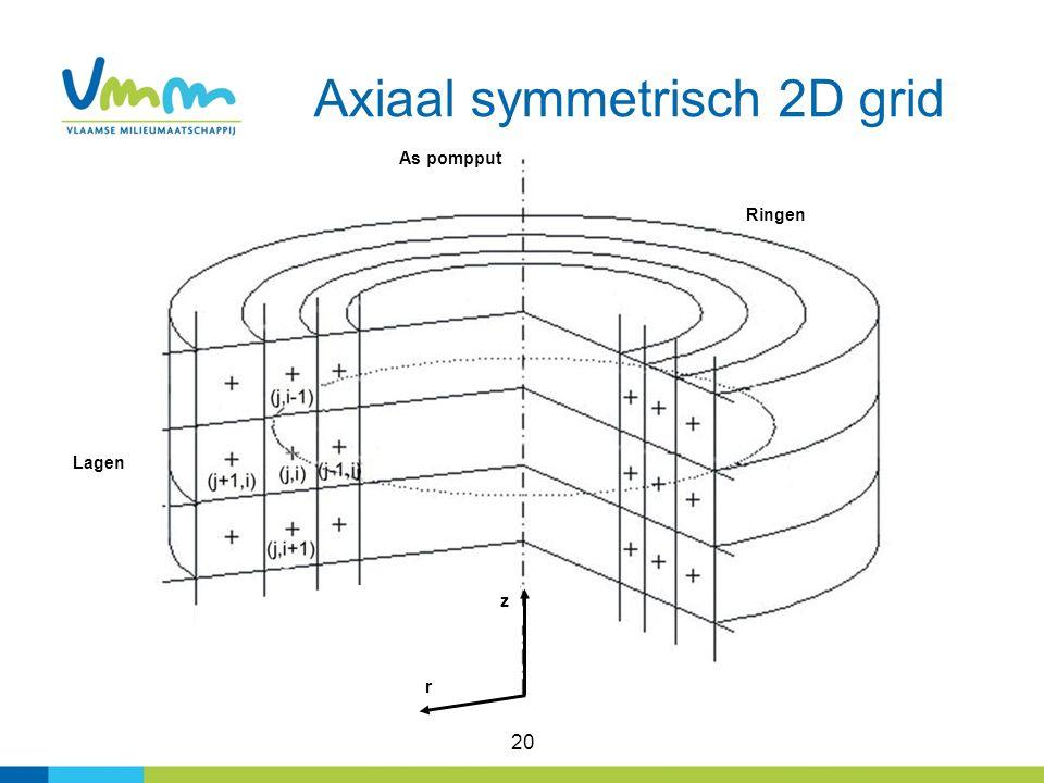 Axiaal symmetrisch 2D grid