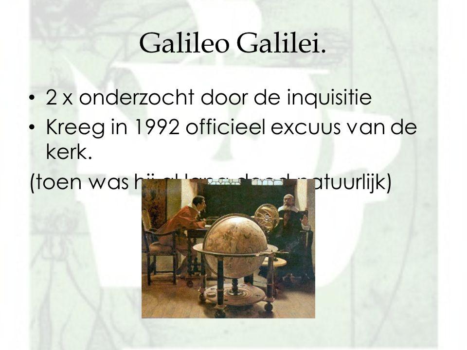 Galileo Galilei. 2 x onderzocht door de inquisitie