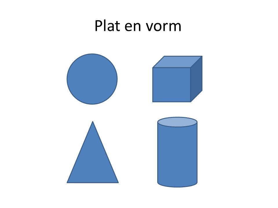Plat en vorm