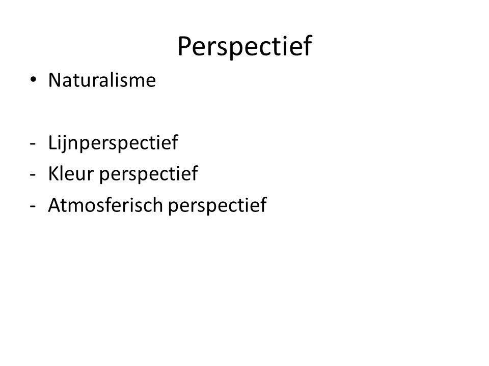 Perspectief Naturalisme Lijnperspectief Kleur perspectief