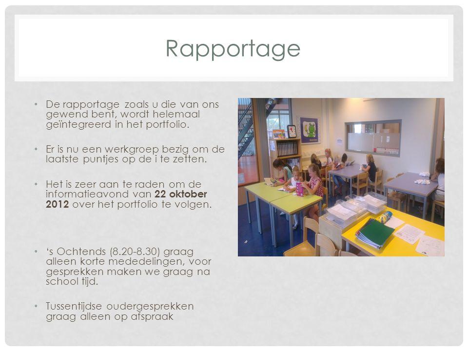 Rapportage De rapportage zoals u die van ons gewend bent, wordt helemaal geïntegreerd in het portfolio.