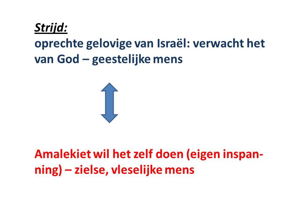 Strijd: oprechte gelovige van Israël: verwacht het van God – geestelijke mens.