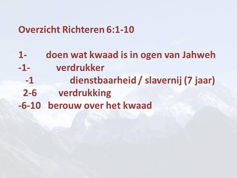 Overzicht Richteren 6:1-10