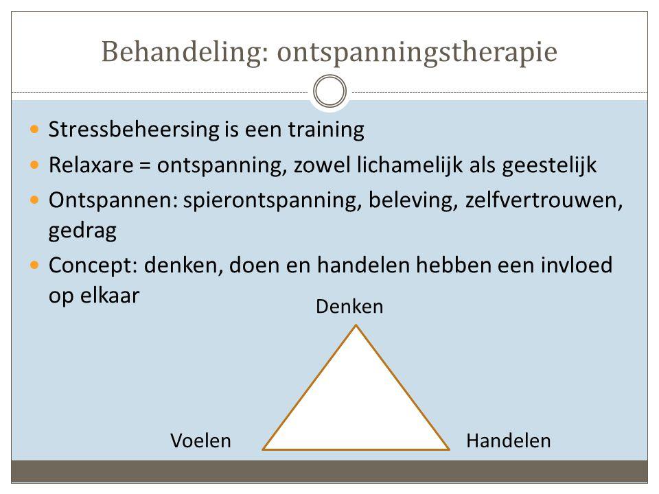 Behandeling: ontspanningstherapie