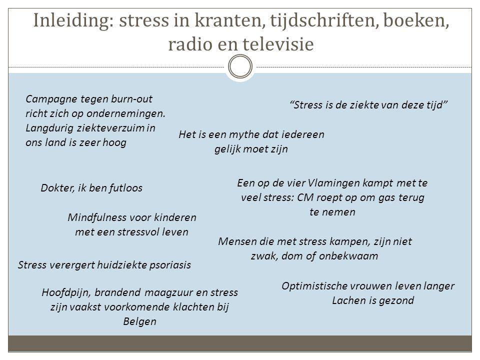 Inleiding: stress in kranten, tijdschriften, boeken, radio en televisie