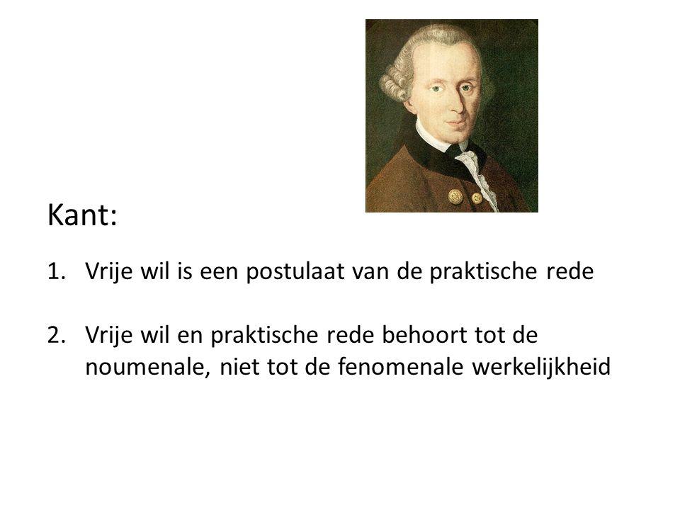 Kant: Vrije wil is een postulaat van de praktische rede