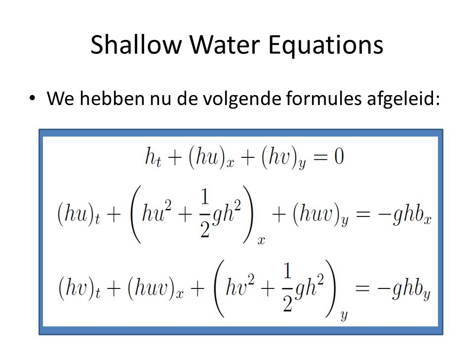 Shallow Water Equations