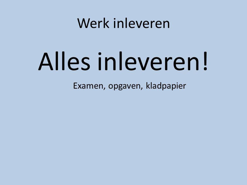 Examen, opgaven, kladpapier