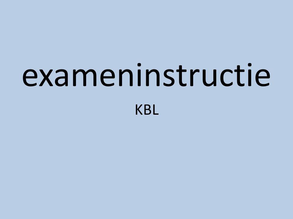 exameninstructie KBL