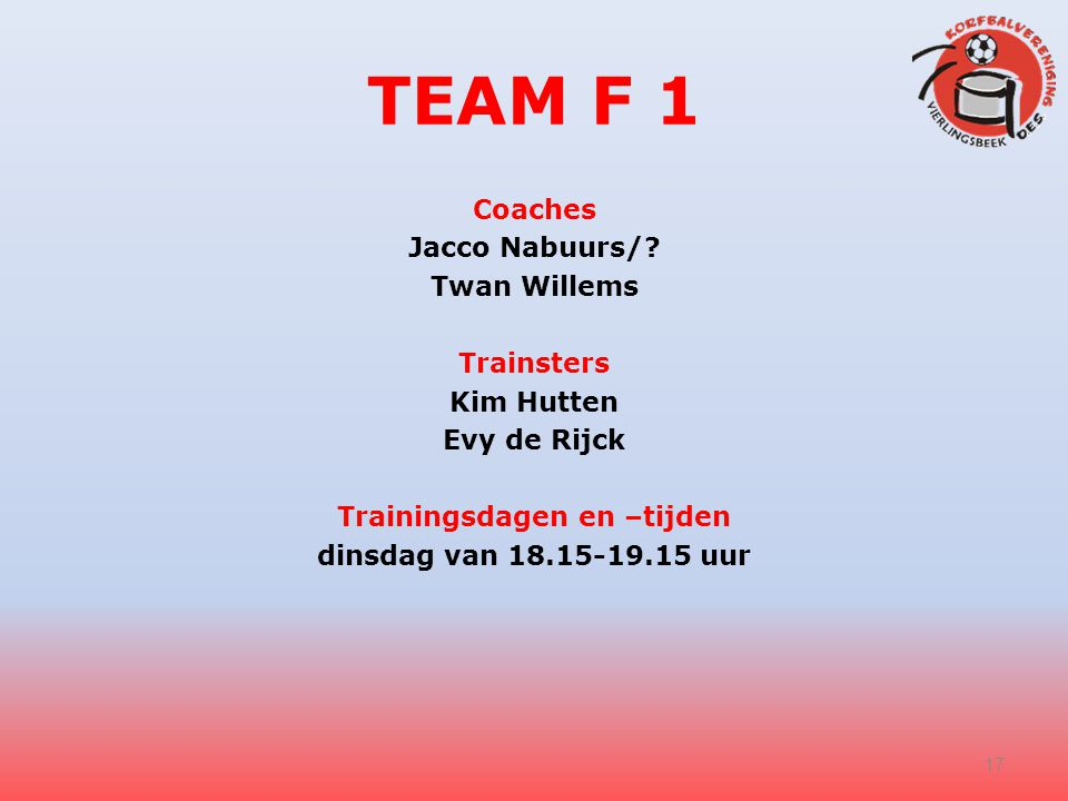 TEAM F 1 Coaches Jacco Nabuurs/.