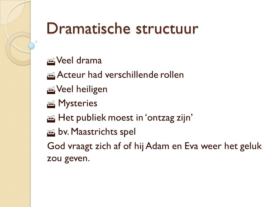 Dramatische structuur
