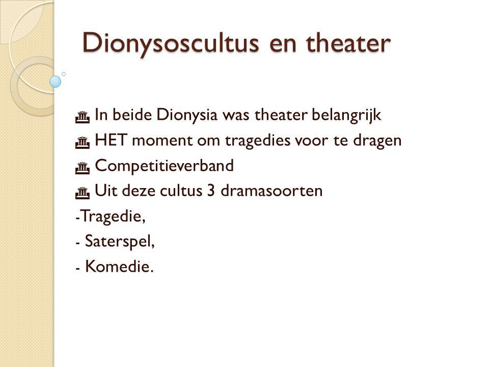 Dionysoscultus en theater