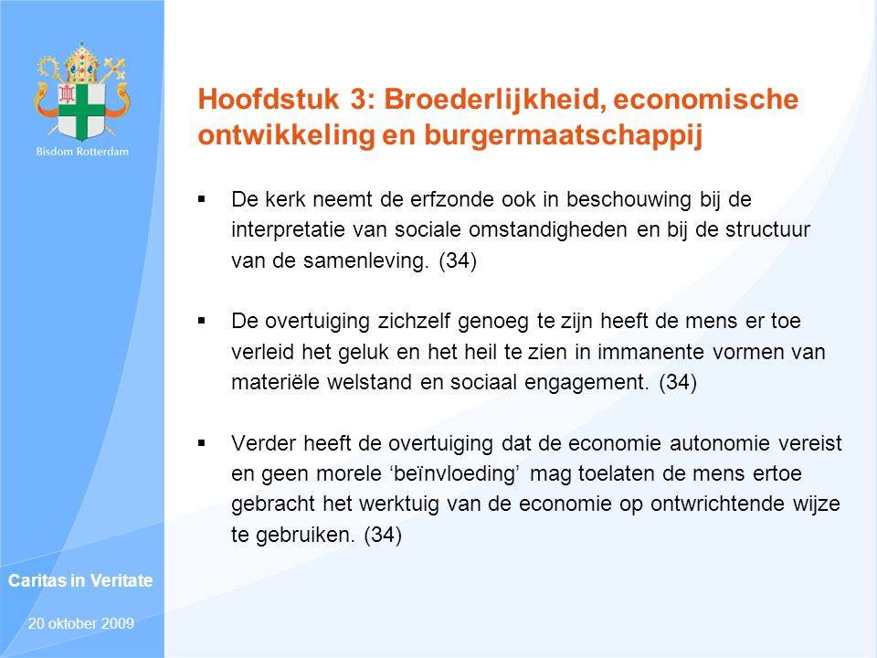 Hoofdstuk 3: Broederlijkheid, economische ontwikkeling en burgermaatschappij