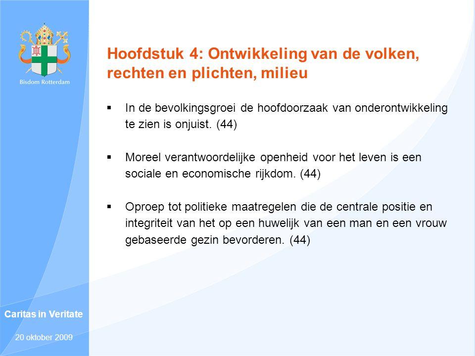 Hoofdstuk 4: Ontwikkeling van de volken, rechten en plichten, milieu