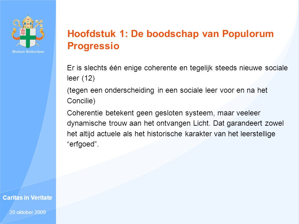 Hoofdstuk 1: De boodschap van Populorum Progressio