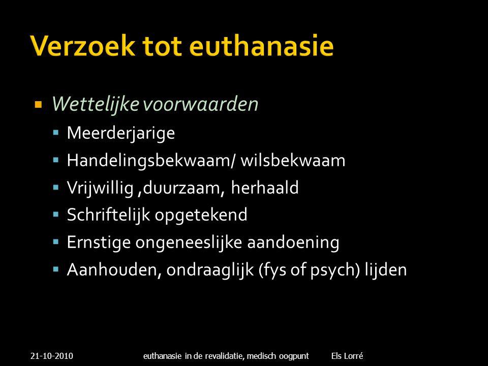 Verzoek tot euthanasie