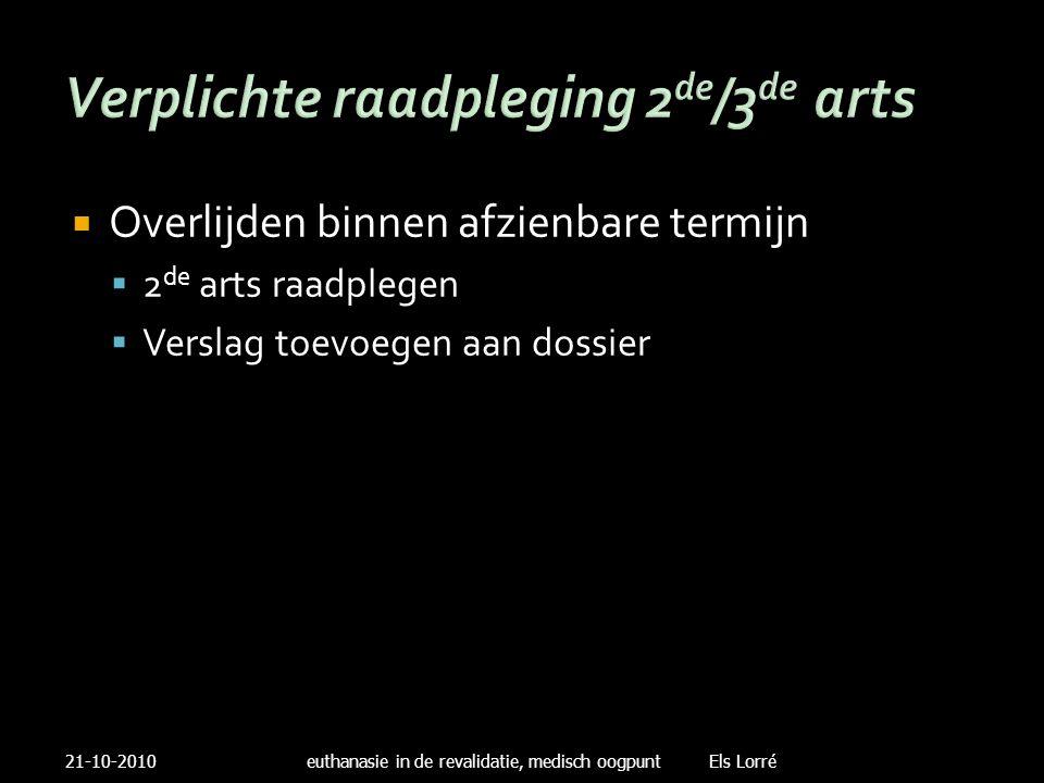 Verplichte raadpleging 2de/3de arts