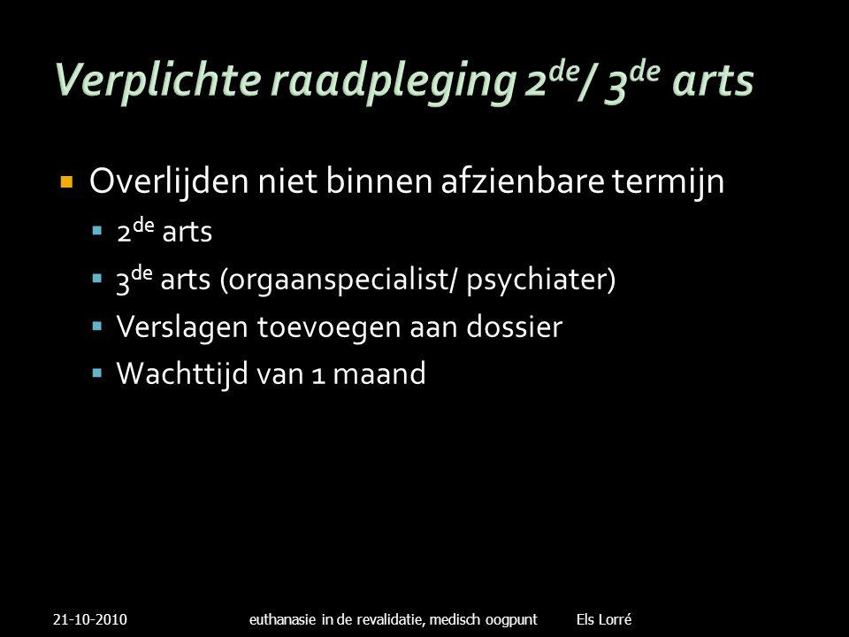 Verplichte raadpleging 2de/ 3de arts