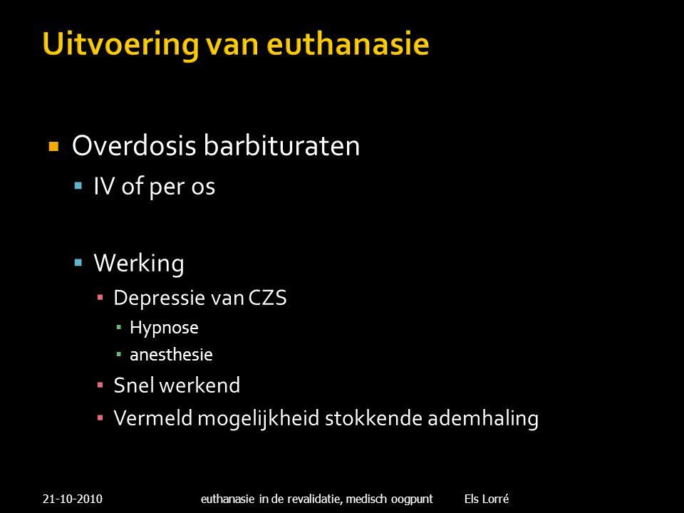 Uitvoering van euthanasie