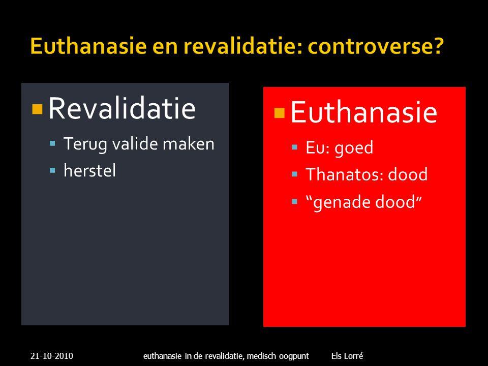Euthanasie en revalidatie: controverse