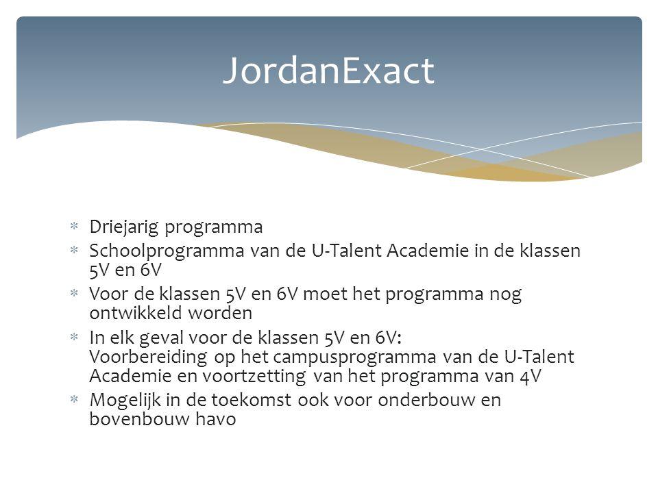 JordanExact Driejarig programma