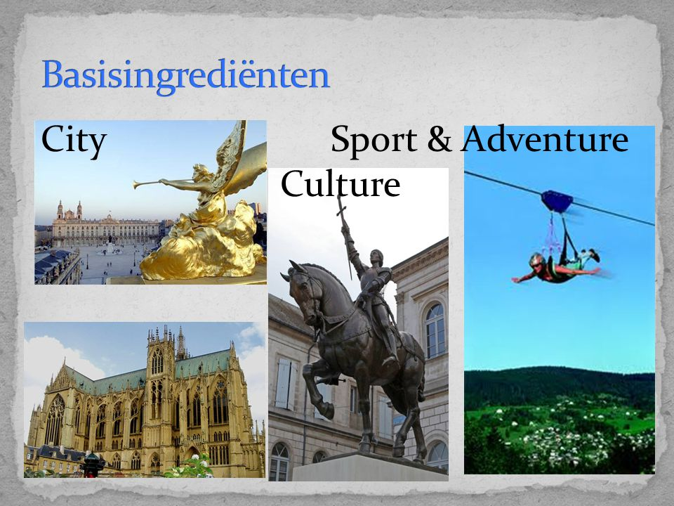 Basisingrediënten City Sport & Adventure Culture