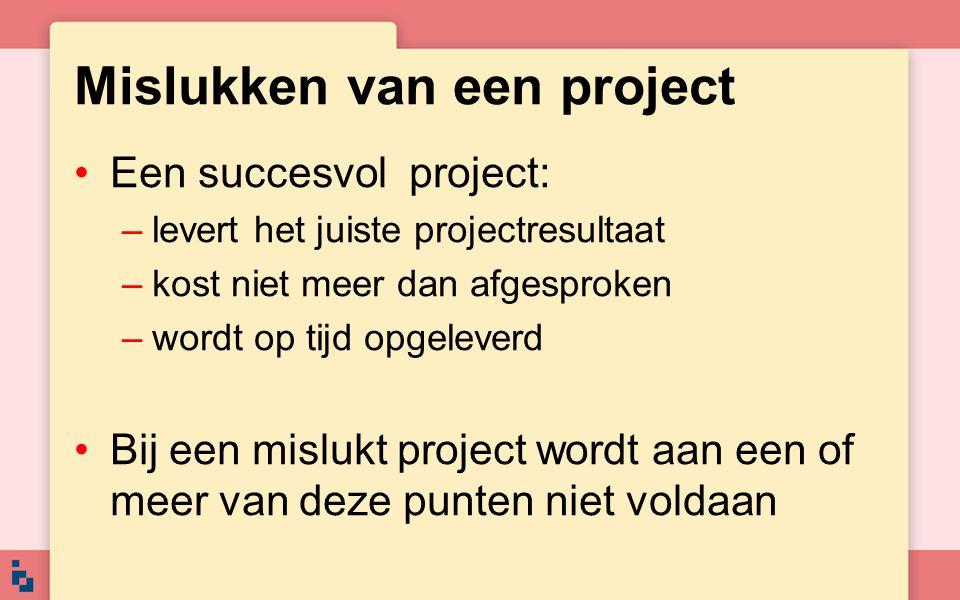 Mislukken van een project