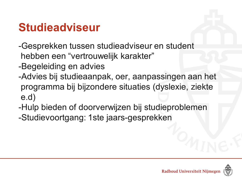Studieadviseur -Gesprekken tussen studieadviseur en student
