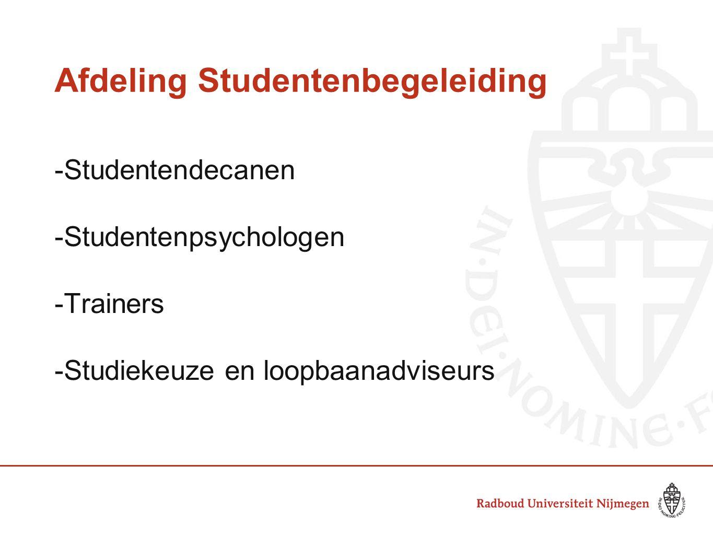 Afdeling Studentenbegeleiding