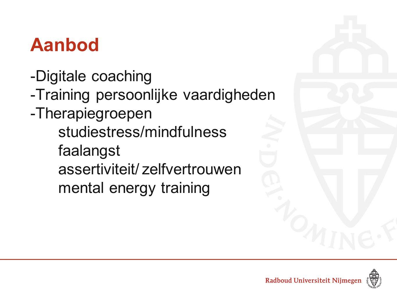 Aanbod -Digitale coaching -Training persoonlijke vaardigheden