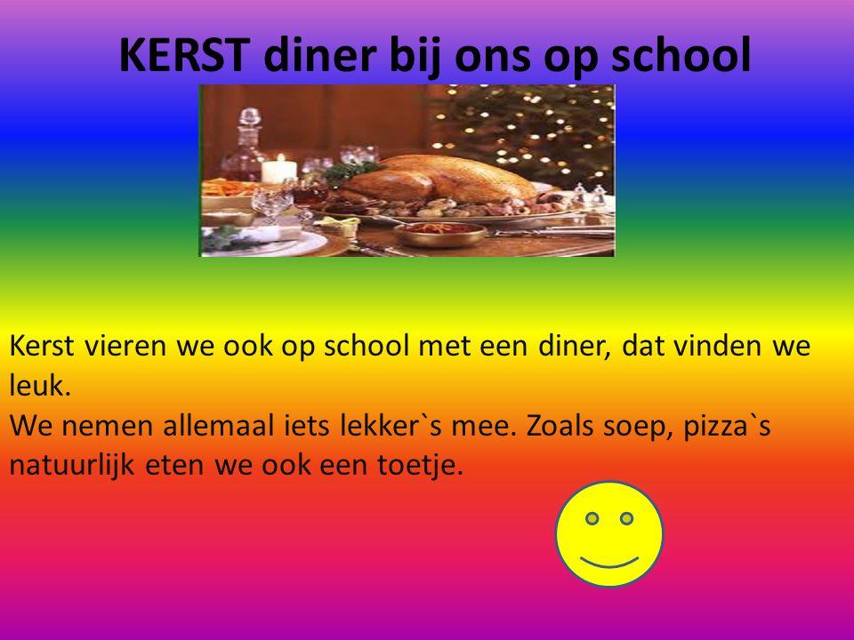 KERST diner bij ons op school