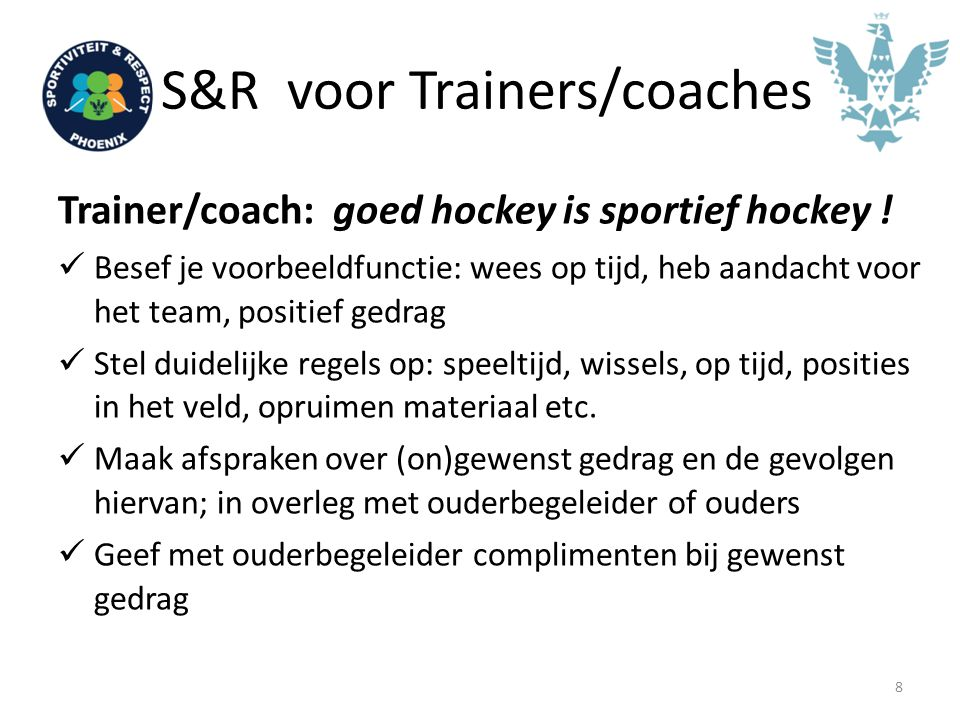 S&R voor Trainers/coaches