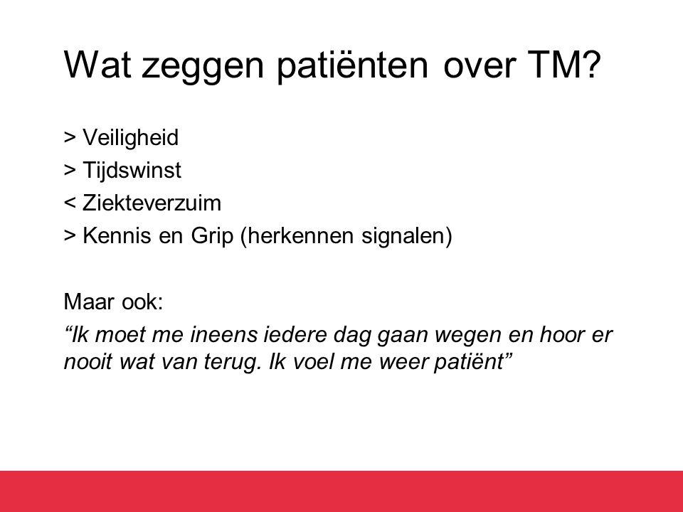 Wat zeggen patiënten over TM