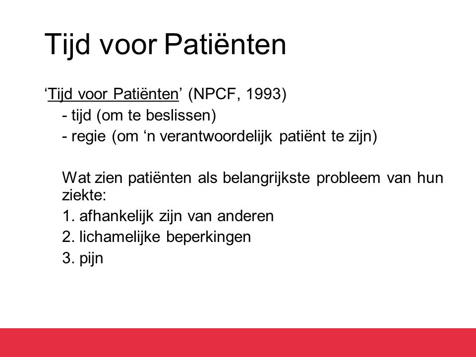 Tijd voor Patiënten