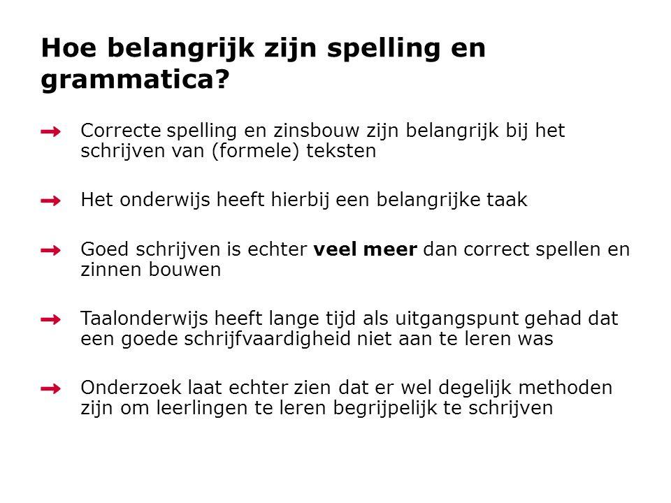 Hoe belangrijk zijn spelling en grammatica
