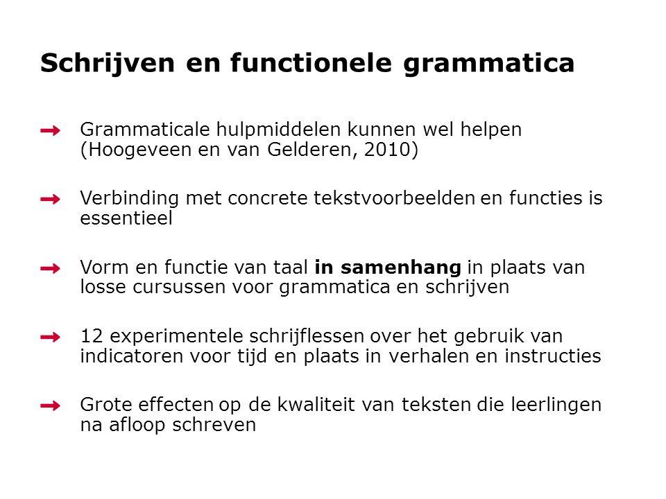 Schrijven en functionele grammatica