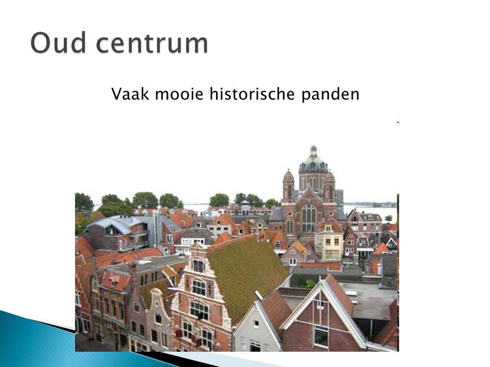Oud centrum Vaak mooie historische panden