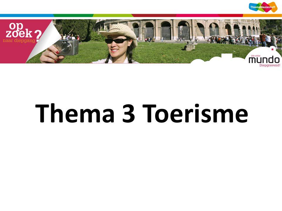 Thema 3 Toerisme