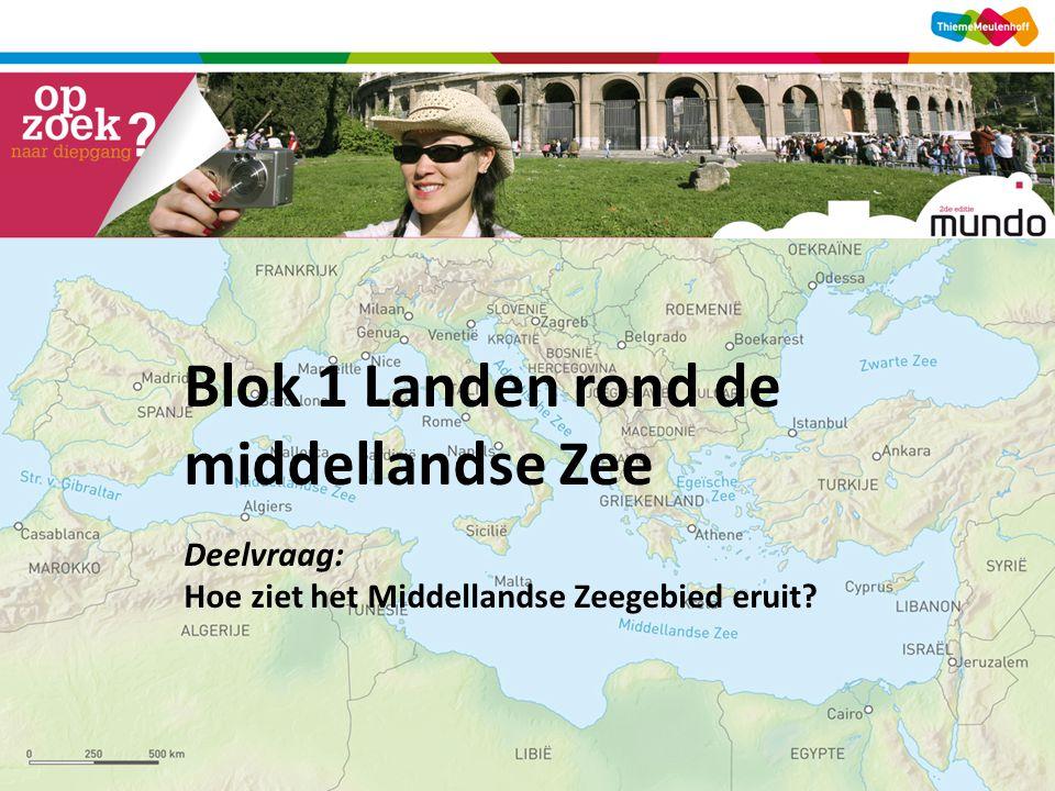 Blok 1 Landen rond de middellandse Zee