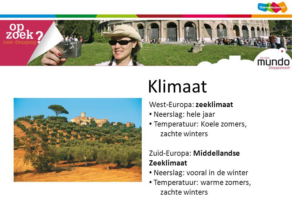 Klimaat West-Europa: zeeklimaat Neerslag: hele jaar