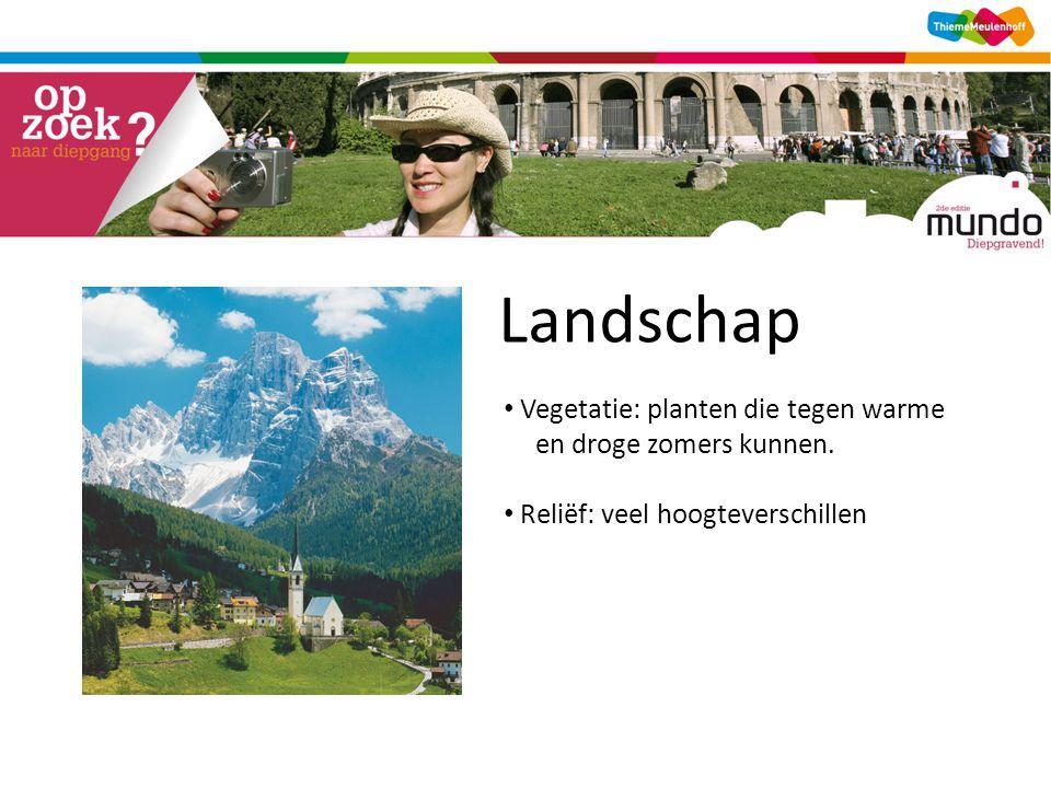 Landschap Vegetatie: planten die tegen warme en droge zomers kunnen.