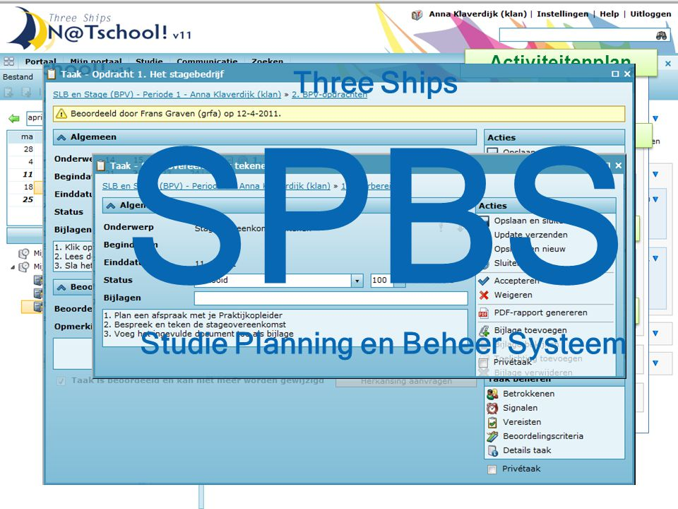 SPBS Studie Planning en Beheer Systeem