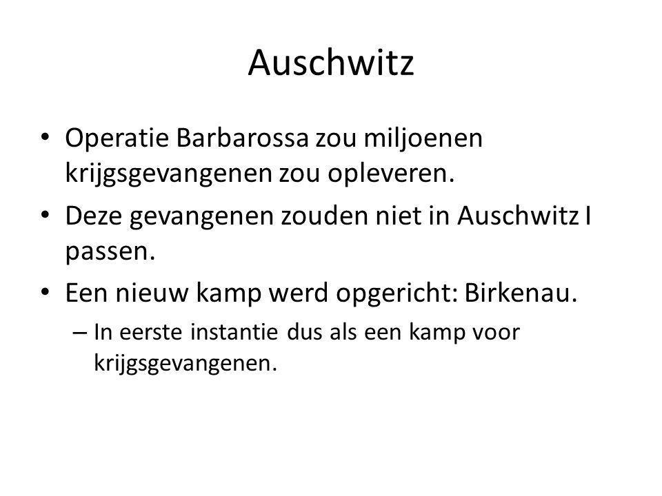 Auschwitz Operatie Barbarossa zou miljoenen krijgsgevangenen zou opleveren. Deze gevangenen zouden niet in Auschwitz I passen.