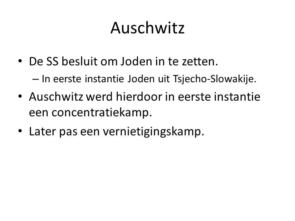 Auschwitz De SS besluit om Joden in te zetten.