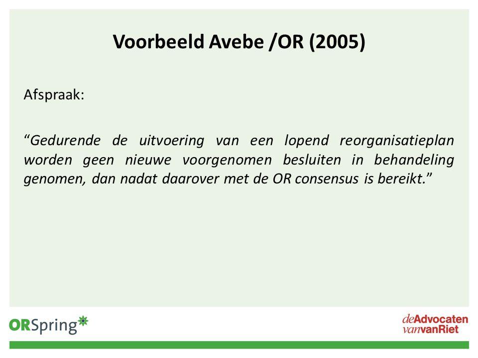 Voorbeeld Avebe /OR (2005)