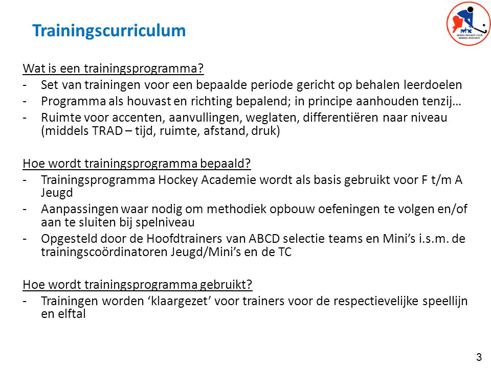 Trainingscurriculum Wat is een trainingsprogramma