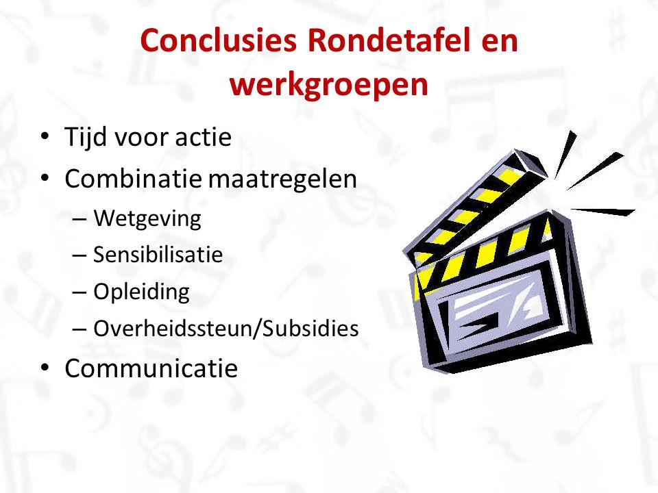 Conclusies Rondetafel en werkgroepen