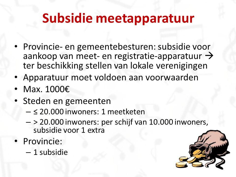 Subsidie meetapparatuur