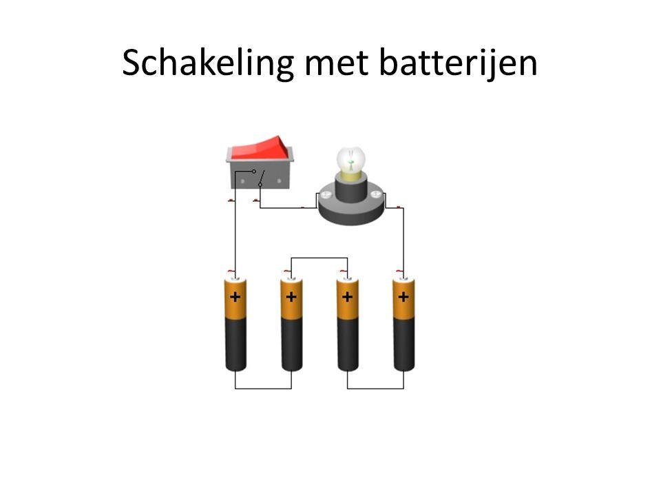 Schakeling met batterijen